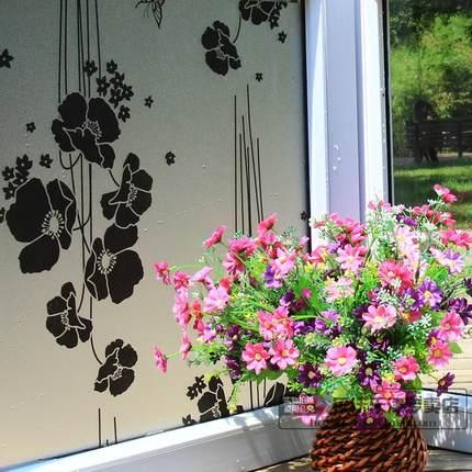 60 cm Wide No glue Electrostatic Window film bathroom toilet balcony windows opaque glass translucent 2D foil printing(China (Mainland))