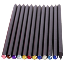 Buy 12 pcs/set Pencil HB Diamond Crayon Stationery Items Drawing Provides Fun Pencils Basswood School Office School Black for $2.08 in AliExpress store