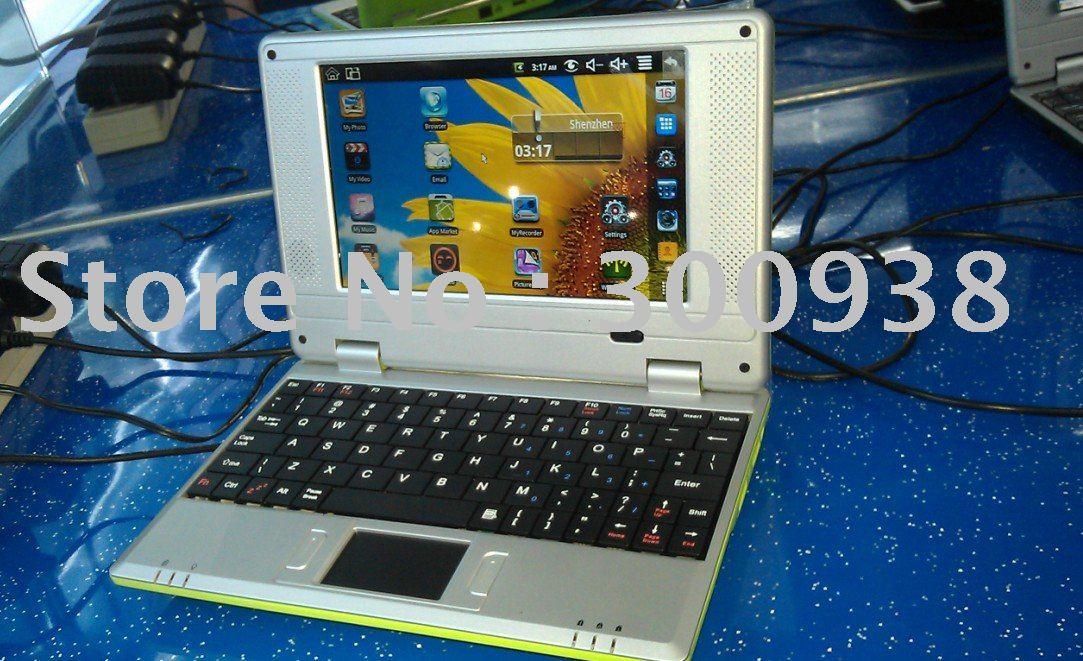 "Hot selling 7"" wireless mini laptop with Windows CE6.0 OS 128M ram 2GB Storage notebook mini laptop computer(Hong Kong)"