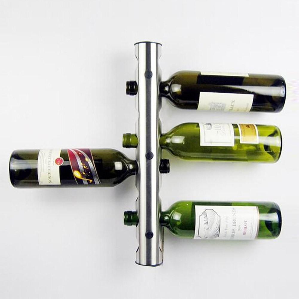 Stainless Steel Metal Wine Rack Holder 8 Optional Home Bar