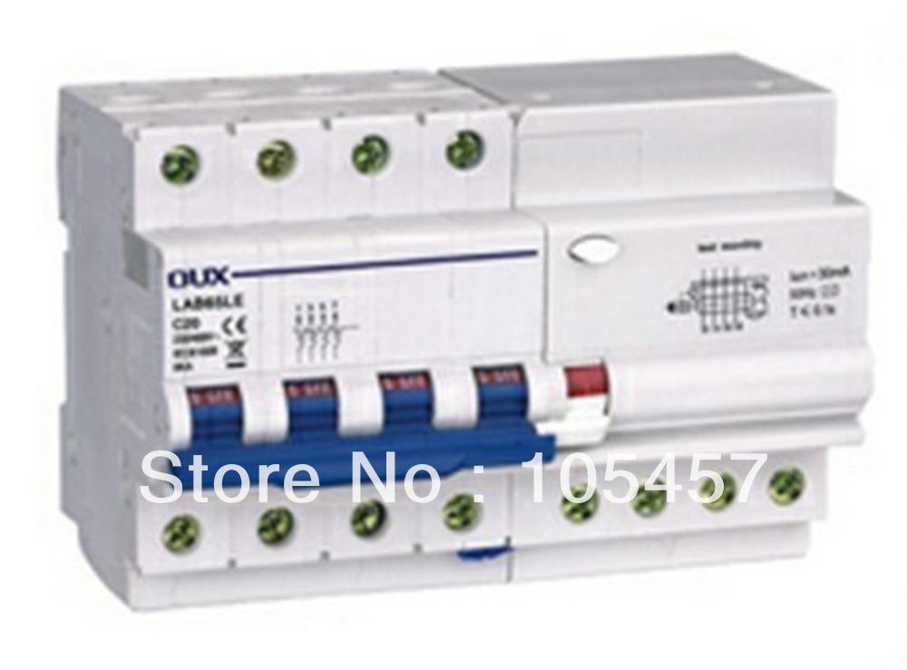 C60 Earth Leakage Circuit Breaker 4P+N AC230/400V 10/16/20/25/32/40A 240A 30mA