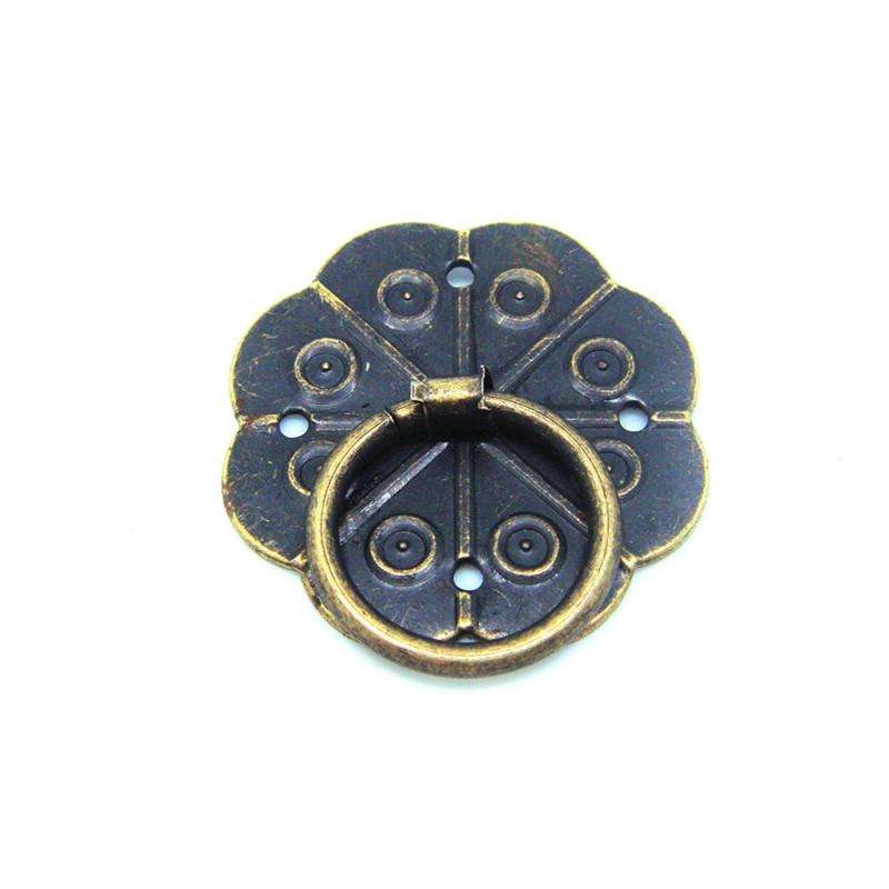50pcs 3CM long legs Plum handle packaging tin metal handle antique handle DIY decorative handle vintage door knobs(China (Mainland))