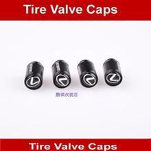 Free Shipping Black Alloy Metal Polish Valve Caps Lexus Logo Car Wheel Tire Air Dust Cover 4pcs/set(China (Mainland))