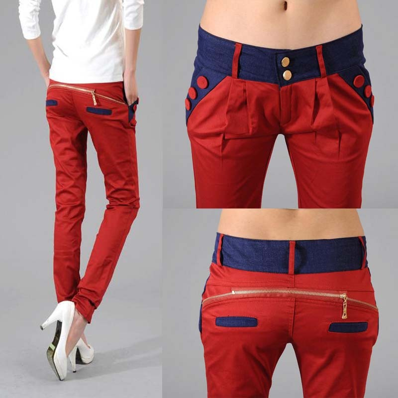 Free shipping 2015 Women 's Fashion pencil Trousers Ol Ladies casual harem pants(China (Mainland))