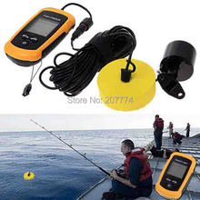 Outdoor Sport Portable Sonar LCD Tester Fish Finder, Alarm depth 100M AP fishing iure ice Transducer fishing finder FreeShipping(China (Mainland))