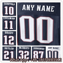 Men's #10 Jimmy #11 Julian #12 Tom #21 Malcolm #32 Devin #87 Rob Black Red White Football Jersey 100% Stitched Customized(China (Mainland))