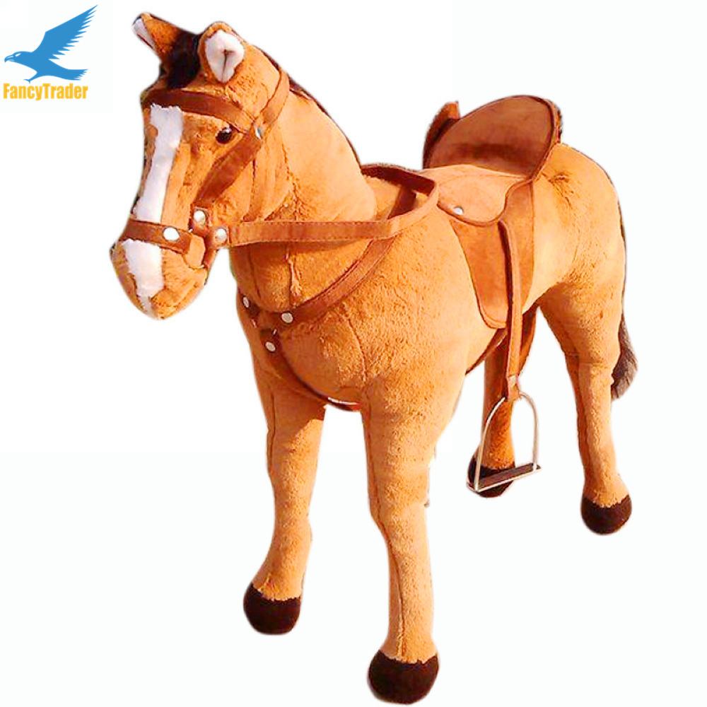 Fancytrader 32 / 82cm Super Soft Stuffed Plush Simulated War Horse, 2 Colors Avaialble, Free Shipping FT50609 <br><br>Aliexpress