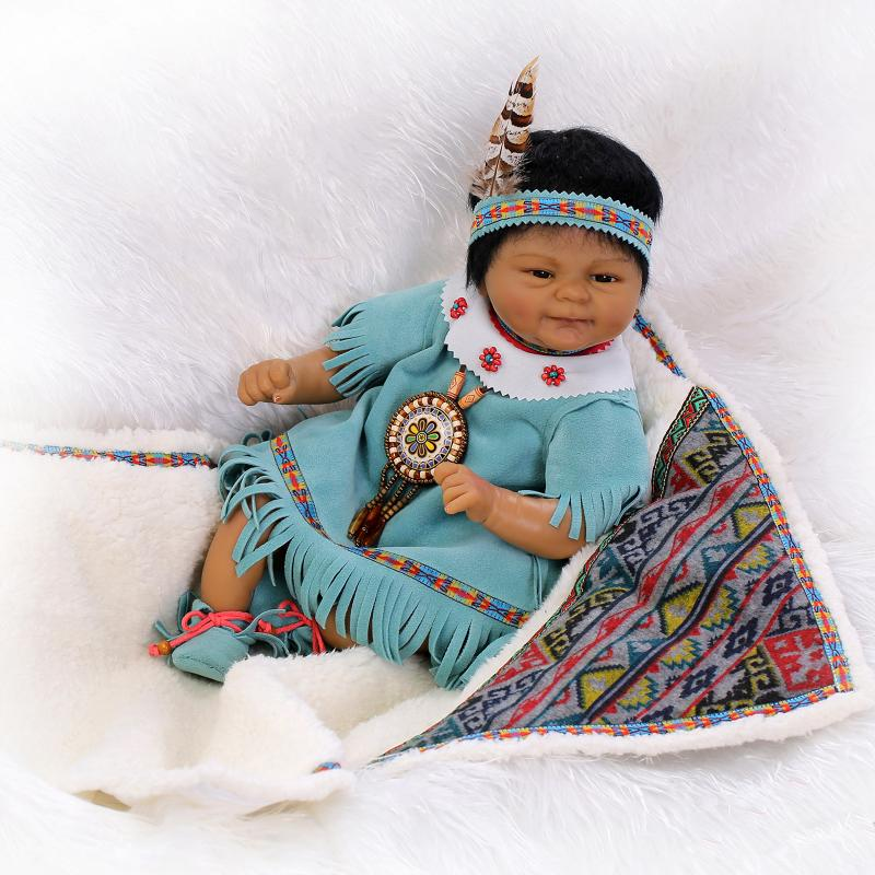 New Arrival Indians Black Silicone Reborn Baby Doll Toys Newbabies Reborn Doll High-end Child Christmas Brithday New Year Gifts<br><br>Aliexpress