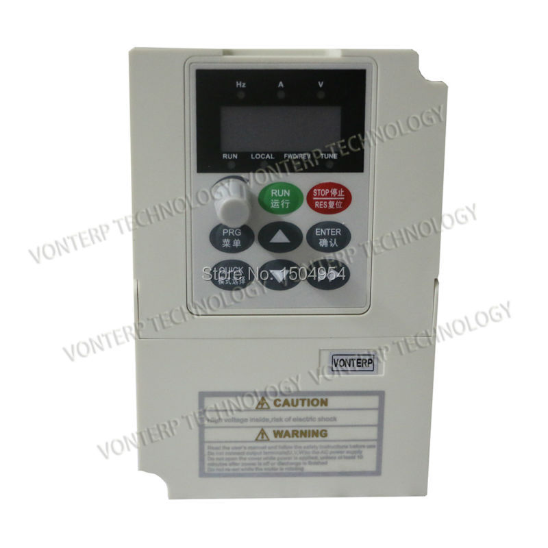 1.5KW 220V Single phase input and 220v 3 phase output Variable Frequency Drive VFD Inverter <br><br>Aliexpress