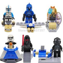 Wholesale Star Wars Minifigures Stormtrooper/Clone trooper/HEVOS 60pcs/lot Building Blocks Starwars Sets Models Figures Toys