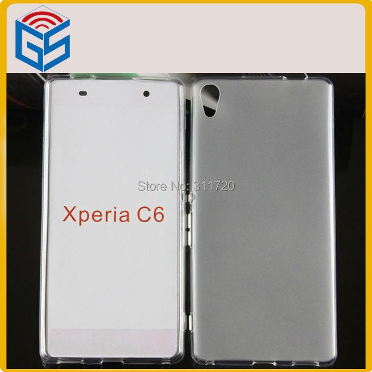 Para Sony Recambios Suave Piel de TPU Pudding Para Sony C6 C6 Para Xperia Ultra Caso(China (Mainland))