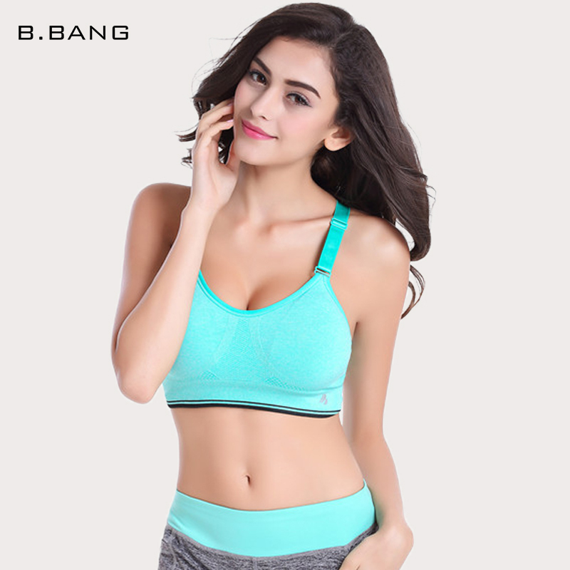 B.BANG Women Sports Bra Professional LEVEL-4 Fitness Running Gym Shockproof Bra Push Up Seamless Bras Adjustable Strap(China (Mainland))