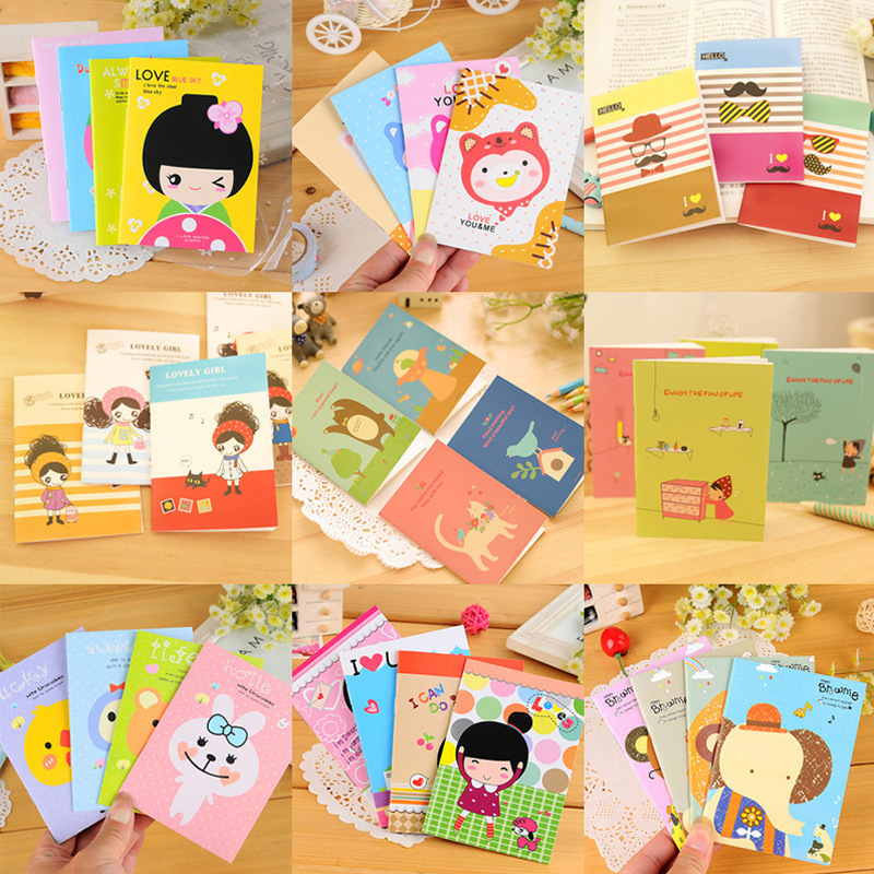 Cut kawaii Korea creative stationery supplies student learning culture cute little notebook notebook prizes free shipping 1471(China (Mainland))