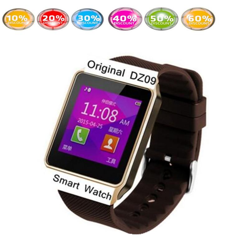 dz09 smartwatch 1pcs white black gold smart watch ios dz09 cheap-android-phone mobile watch phone than gto8 m26 u8 u(China (Mainland))