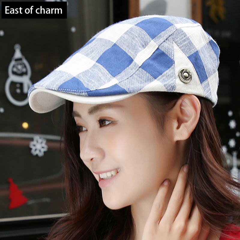 High Quality Cotton Stripe Cap Men Women Beret Hat For Man Newsboy Cap Pure Color Casual Duckbill Cabbie Hat Boina(China (Mainland))