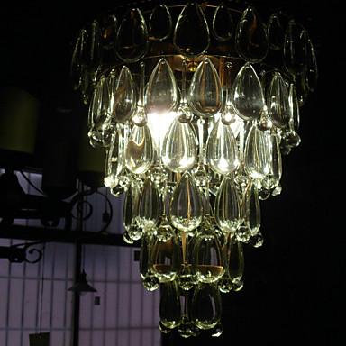 led modern crystal pendant light lamp with 4 lights cone. Black Bedroom Furniture Sets. Home Design Ideas
