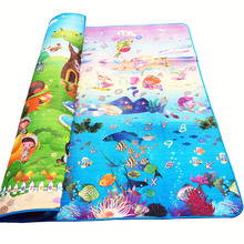 Baby Crawling Mat Sided Pattern Animal+Ocean 2*1.8m Baby Play Mat Baby Carpet Soft Floor Kids Baby Playmat Outdoor Carpet Child(China (Mainland))