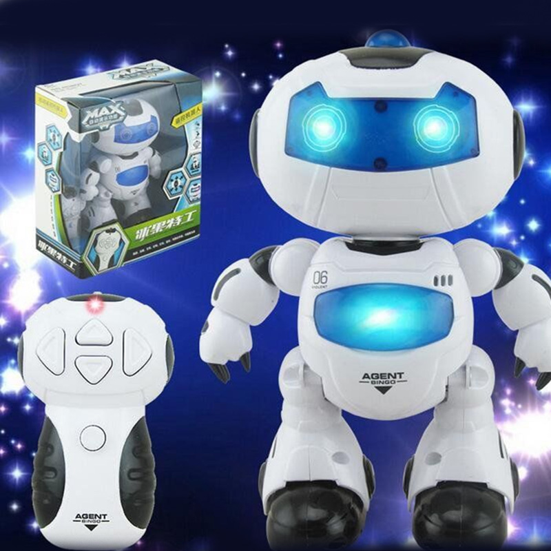Automatic Remote Cotrol Light Music Dance Robot Children Education Toys #84470(China (Mainland))