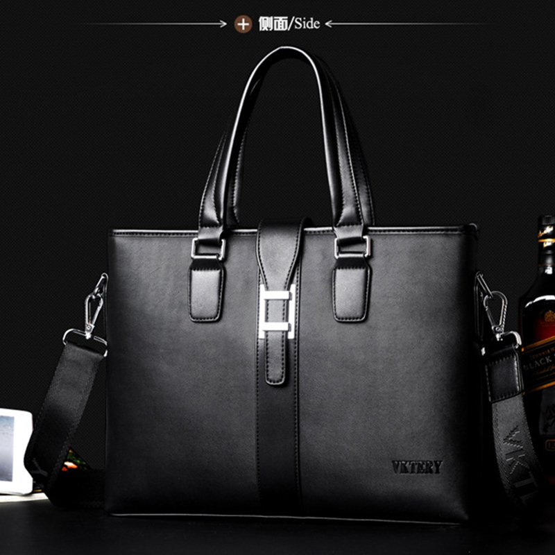 Men's big size business hand bag shoulder leather bag cross body big size bags with handle(China (Mainland))