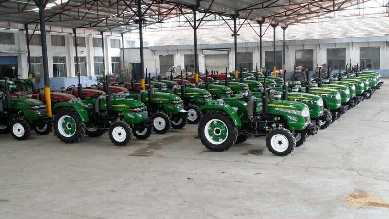 tractor displayed