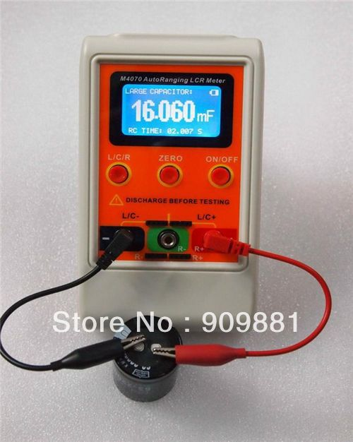 M4070 AutoRanging LCR Meter USB  PC program Up to 100H 100mF LCD display Capacitance  Inductance Meter Rechargeable<br><br>Aliexpress