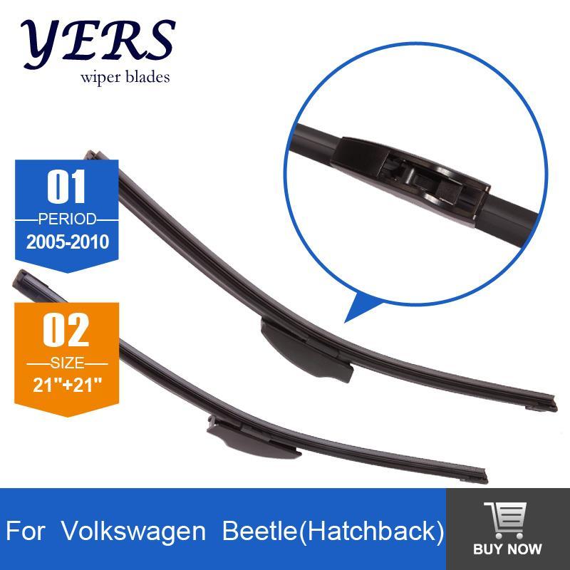 "Windscreen Wiper blades for Volkswagen Beetle (2005-2010), 21""+21"", U-Hook, bracketless, front accessory,freeshipping HY-002(China (Mainland))"
