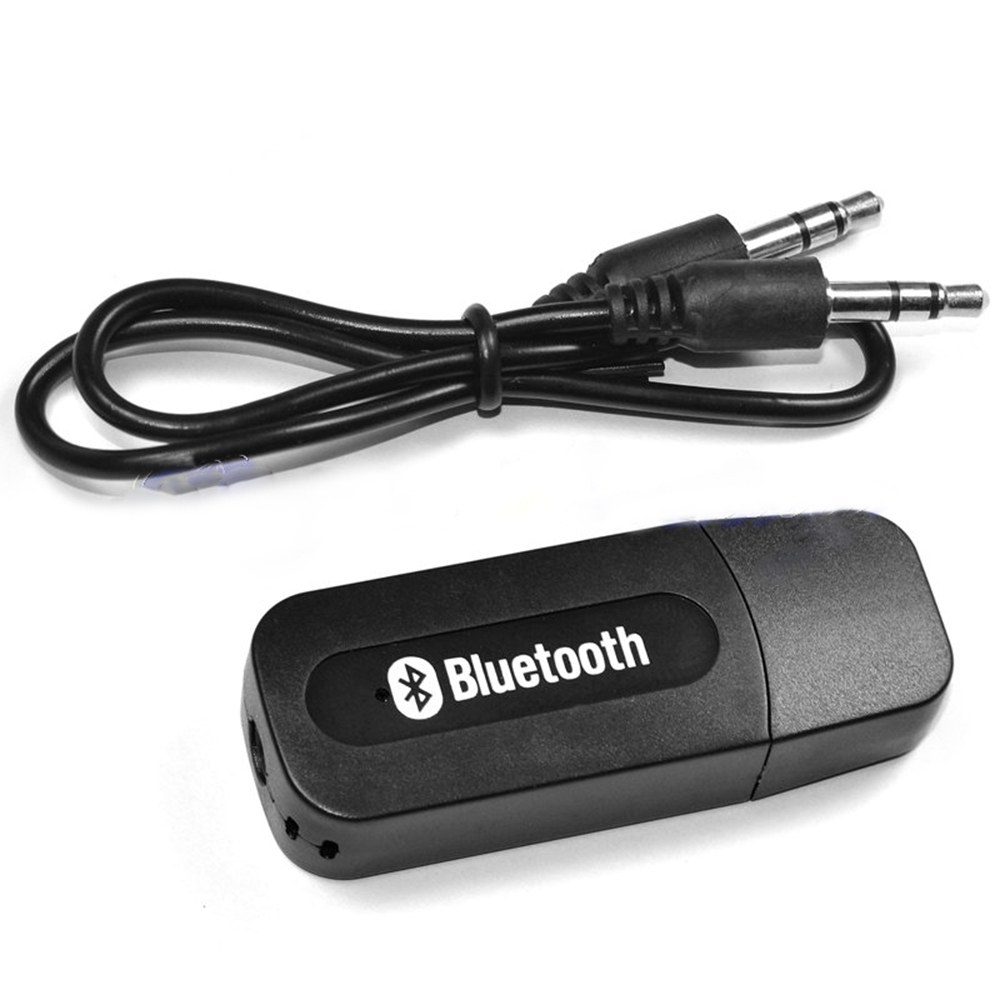 Portable Black USB Bluetooth Audio Music Receiver Wireless Adapter 3.5mm USB
