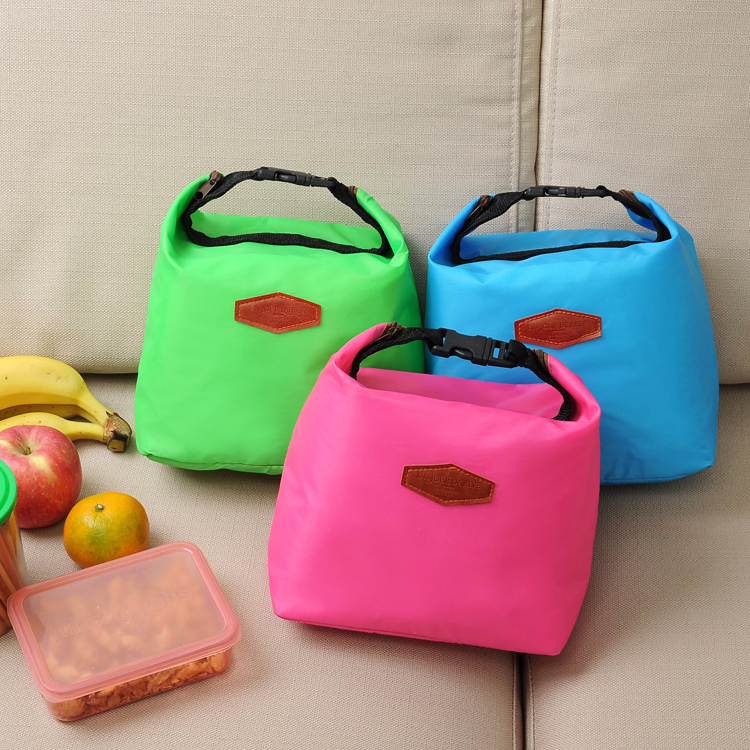 Free Shipping Insulated Picnic Cooler Bags Nylon Lunch Bag Pink,Green,Blue Color Portable Thermal Bags for Food(China (Mainland))