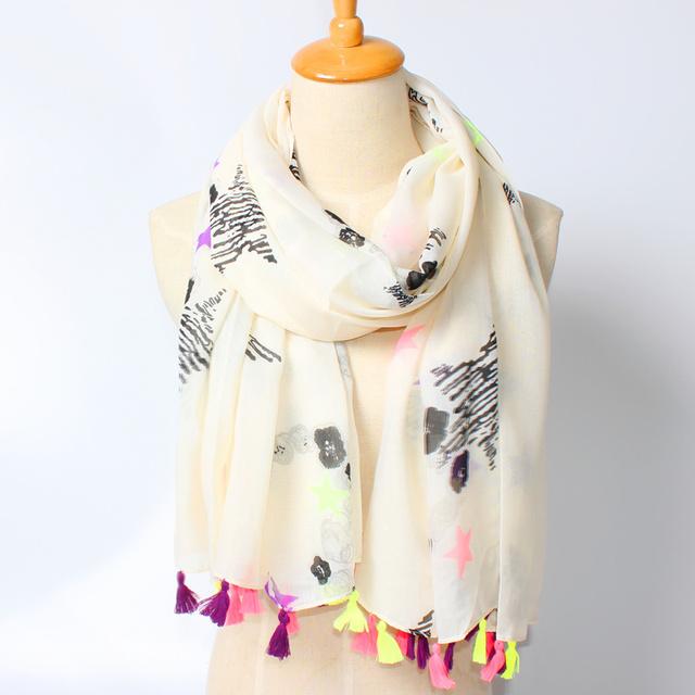 2016 новое поступление зима мода женщин марка дизайн богемия шарф ветер геометрия нью-пятиконечная звезда в форме сердца длинные симпатичные шарф шали