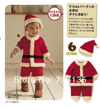 Christmas suits,Hat + Coat + Pants,Baby Christmas Costume,Santa Baby,Santa Clause,Childrens Xmas Outfits DHL FEDEXFree shipping