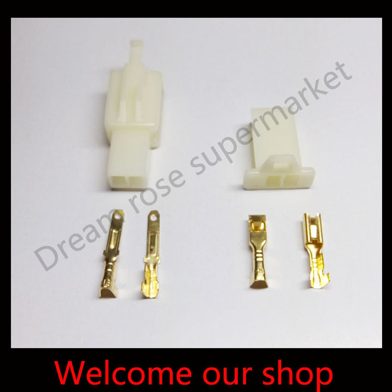 100 sets 2.8mm 2 Way/pin wiring terminal electrical connector Male Female socket plug for Motorcycle Car ect. Free shipping<br><br>Aliexpress