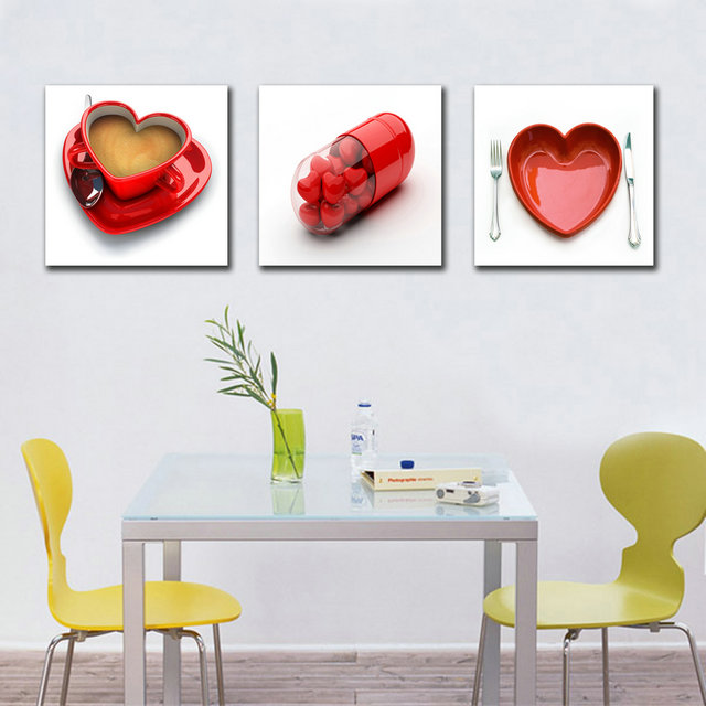 Keuken Rood Schilderen : Dining Room Art Paintings
