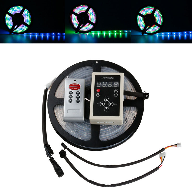 5M 6803 IC SMD 5050 Digital 12V RGB LED Strip 150 LED IP68 Tube Waterproof Dream Magic Color LED Strip Light +RF6803 Controller(China (Mainland))