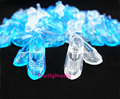 100 Pairs Imitation Fairy Story Crystal Footwear For CINDERELLA Trend Princess Doll Footwear Heels Sandals For Barbie Dolls Child Toy