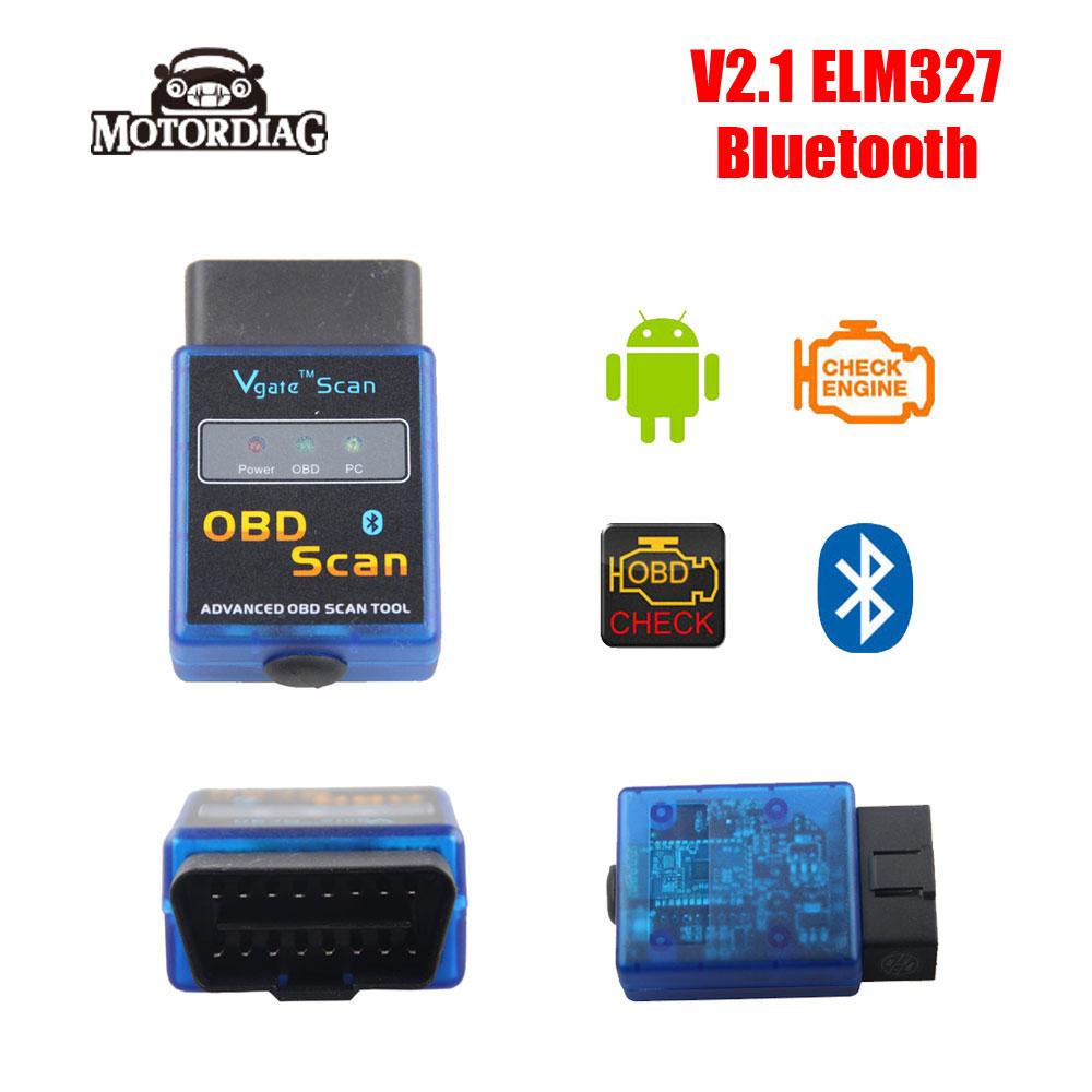 ELM 327 V 2.1 ELM327 V2.1 Bluetooth Mini China Auto Scan Tool OBDII OBD2 Scanner Automotivo Escaner Car Fault Code Reader(China (Mainland))