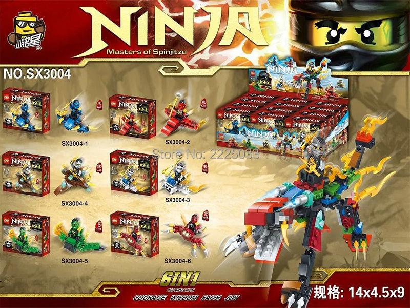 6pz Phantom Ninjagos 6in1 became Thunder War Tiger Minifigures Building Block toys for kid gift brinquedos Compatible with legos(China (Mainland))