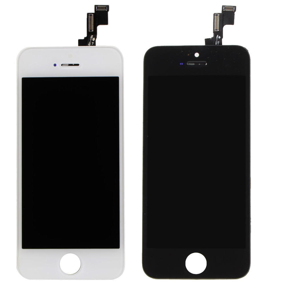 Front Screen LCD For iPhone 5S/5C Display With Digitizer Touch Screen Replacement White & Black VAH82 T 0.4(China (Mainland))