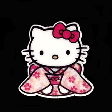 40pcs/Lot 34x33mm Hello Kitty Wear Kimono Planar Resin Cabochons Flat Back Hair Bow Center Party Decor Card Making Craft(China (Mainland))