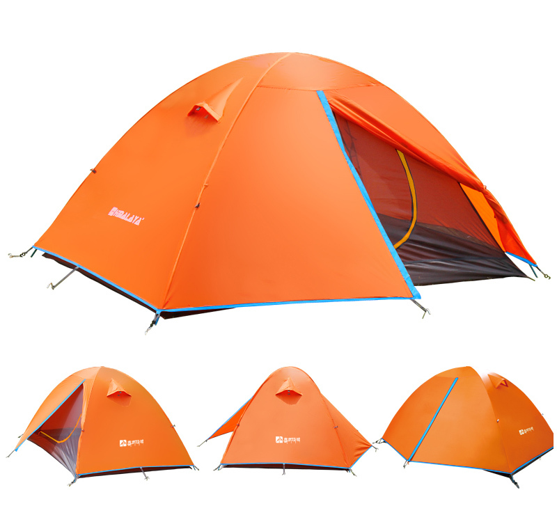 Picnic 4 Seasons Tent Camping Tent 2 Person Tent Double-layer Waterproof Tent HT9518(China (Mainland))