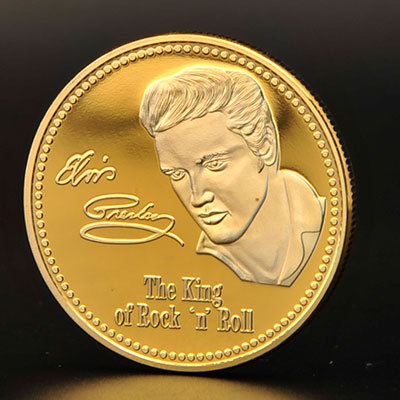 2015 NewGibraltar United States Movie Star Elvis Presley Coin Commemorative Coin/Souvenir Coin(China (Mainland))