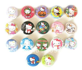 Lovely hello kitty cartoon badge, badge pin button badge badge jewelry 3CM
