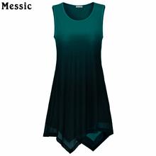 Buy Summer 2017 Handkerchief Hem Line Women Sleeveless Tunic Top O-Neck Tie-Dye Knitting Asymmetric Long Tops Women Gradient Shirt for $13.92 in AliExpress store
