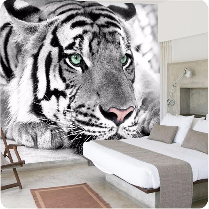 Online get cheap putih hiburan televisi for Mural hitam putih