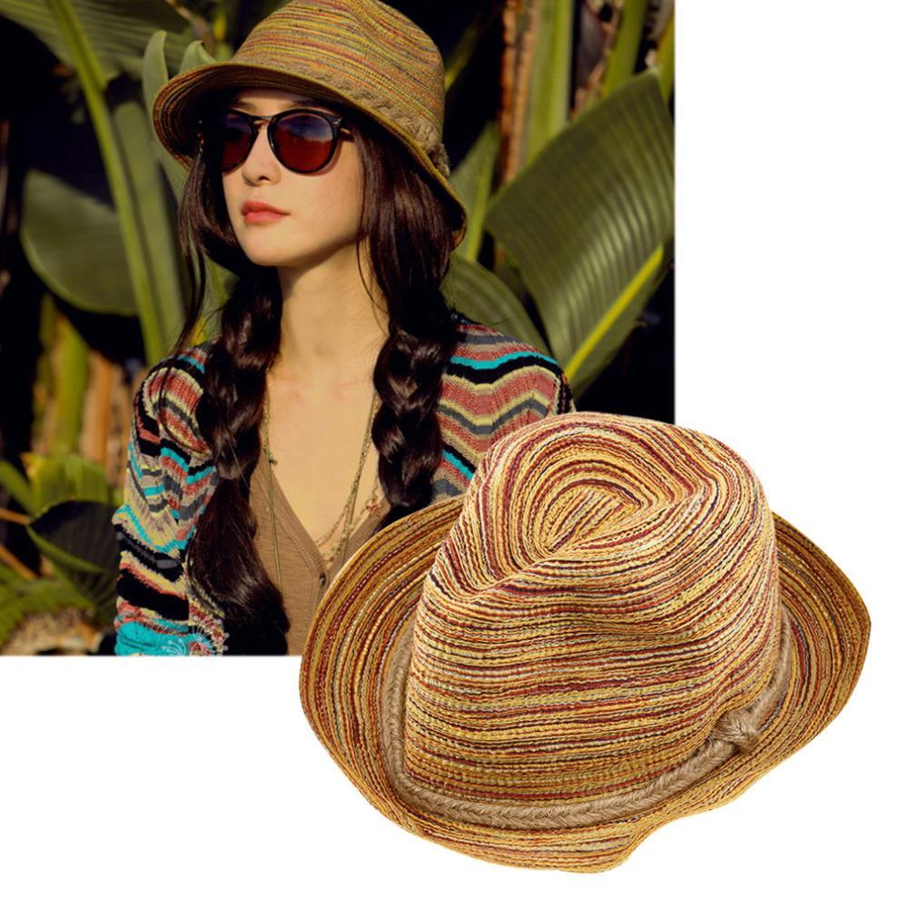 Summer Style Women Ladies Foldable Beach Hat Provence Floppy Elegant Bohemia Sun Straw Hat Cap Tops Fashion Hot Selling(China (Mainland))