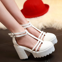 2015 Fatory discount Women's Summer Shoe New Arrival Sexy Peep Toe Buckle Cut-outs Platform Sandals Thick Platform sandal 34-43(China (Mainland))