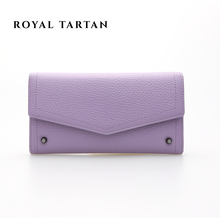 ROYAL TARTAN female brand clutch bag fashion long wallet luxury women genuine leather wallets designer purses bags card holder