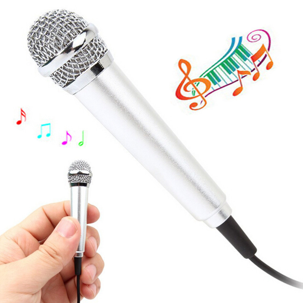 2015 Silver Estone 3.5mm Mini Condenser Sound Microphone Mic with Clip, Perfect for Voice Recording and Skype Chatting(China (Mainland))