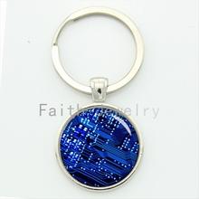 Buy computer circuit board keychain blue power circuit breaker pcb key chain best man jewelry geek boyfriend gift KC557 for $1.02 in AliExpress store