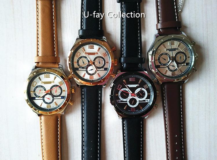 Мужская Homme наручные часы кварцевых часов лучший мода платье корея браслет спорт кожаный ремешок подарок на день рождения юлий JAH063