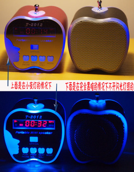 5pcs/LOT T2012  Mini Portable Music Speaker Sound box Boombox Speakers with U-disk U disk micro SD/TF Card reader USB + FM Radio